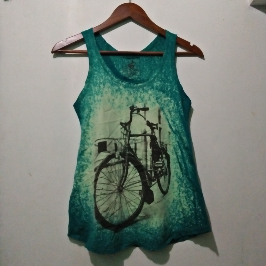 Retro Dyed Print Top