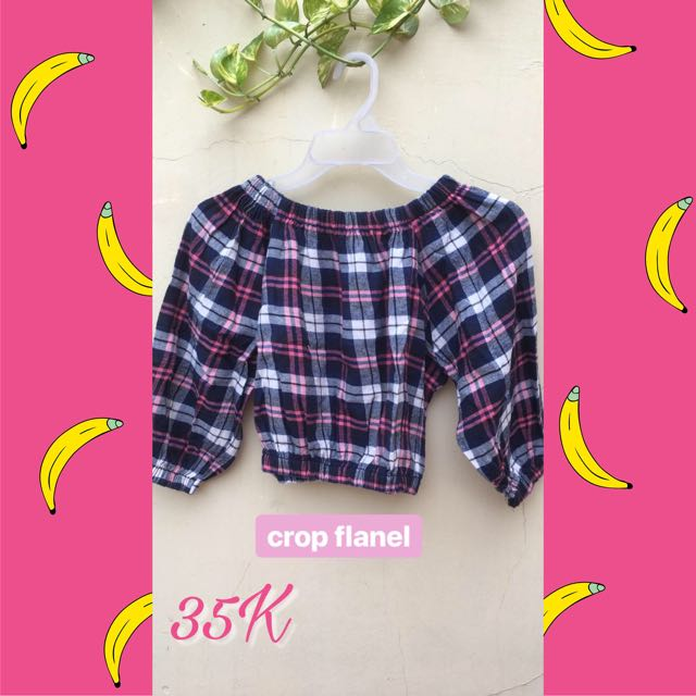 Sabrina crop flanel