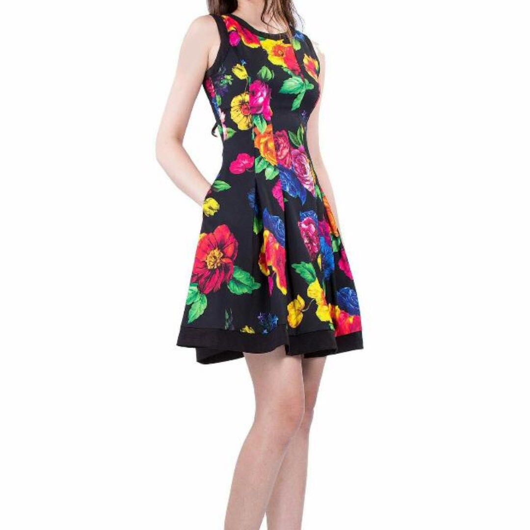 SALE Doublewoot Double Woot DW vintage Floral OL dress