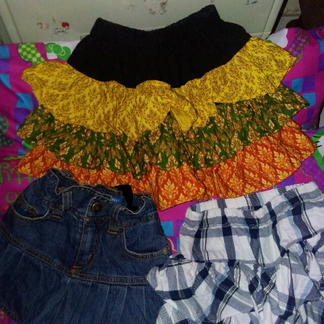 Sale: Skirt,maong Skirt With Undies