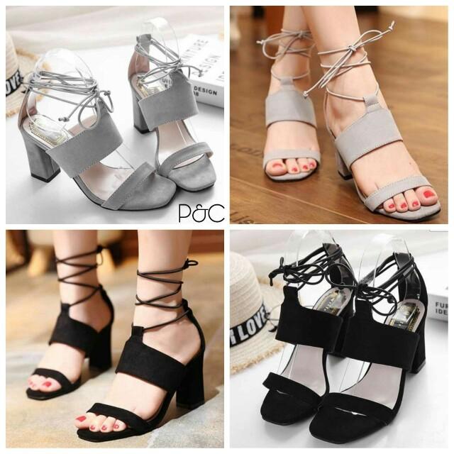 Sepatu heels tali