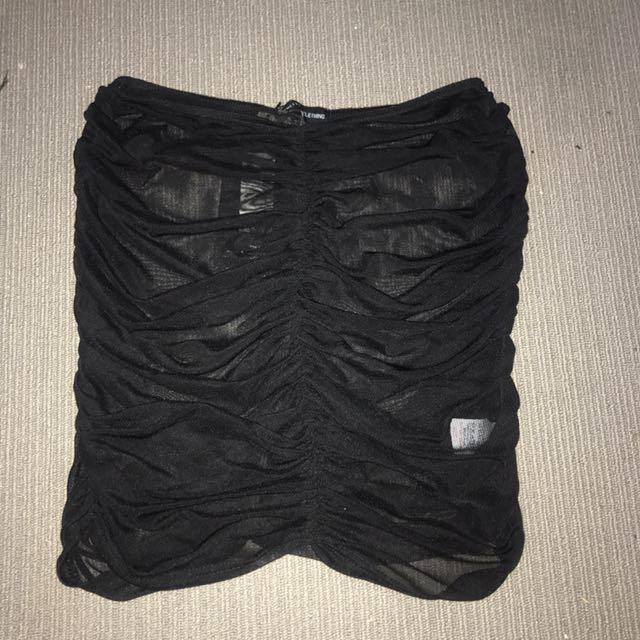 Sheer skirt