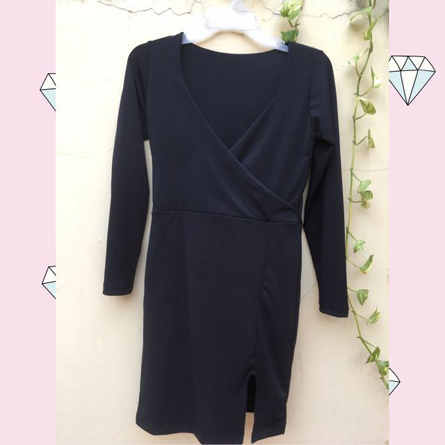 slit dress / dress press body
