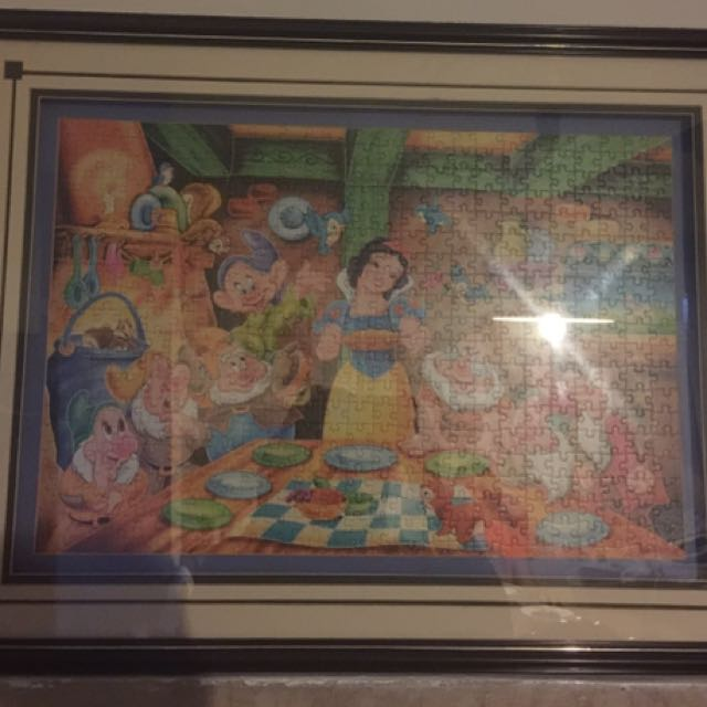 Snow White And The Seven Dwarves Puzzle Frame