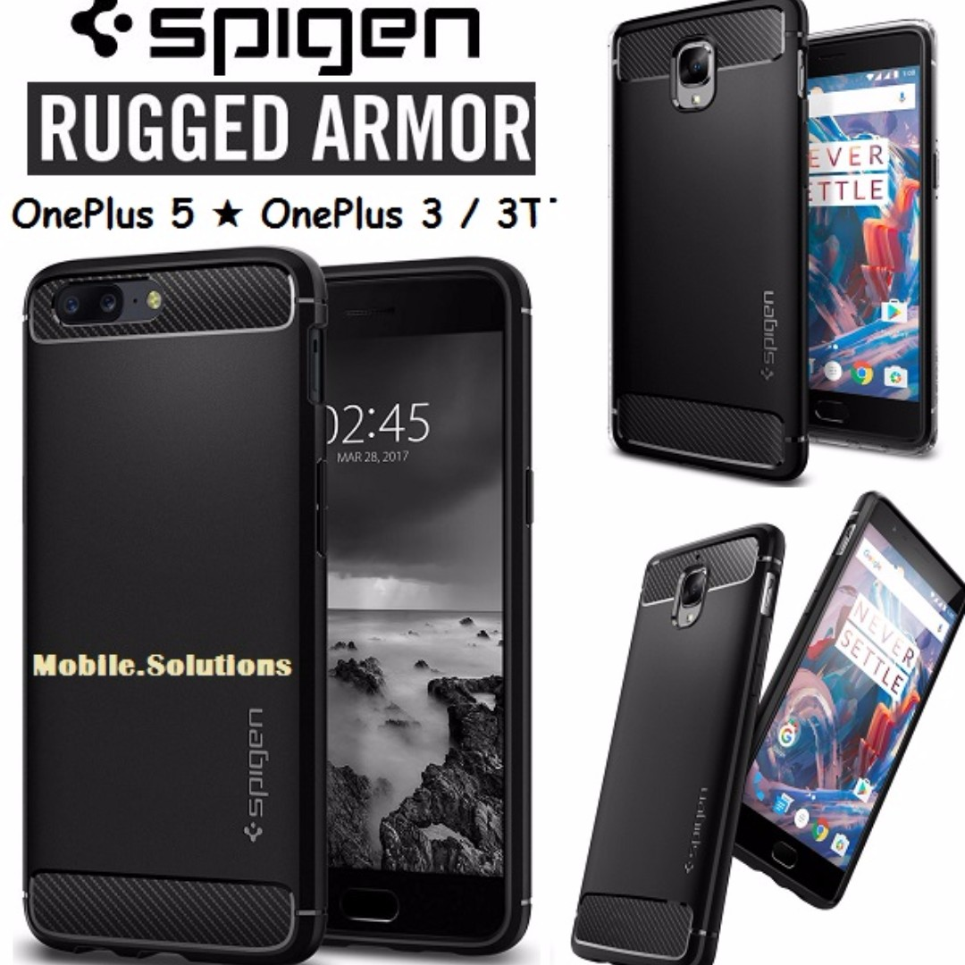 low priced 4fcda 3f0a2 Spigen ★ OnePlus Rugged Armor Series Case ★ OnePlus 5 ★ OnePlus 3 ★ OnePlus  3T ★ Authentic