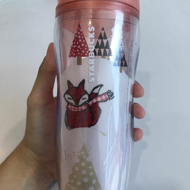 Starbucks Pink Foxes Christmas Winter Tumblr 2016