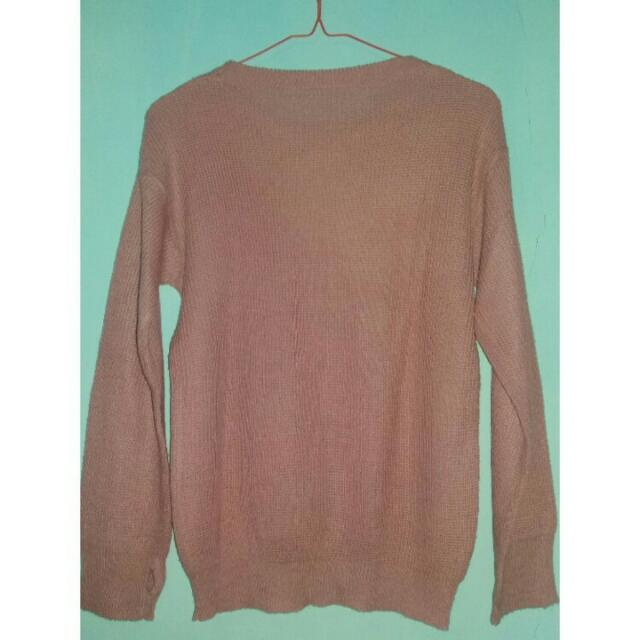 Sweater Roundhand Dusty Pink