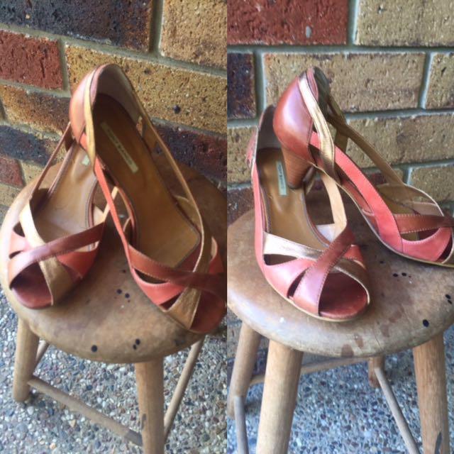 TONY BIANCO 3 Tone Leather Shoes 6