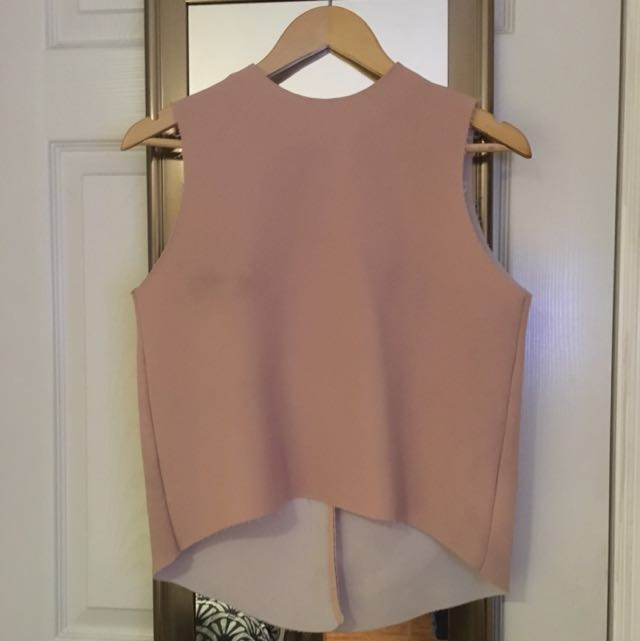 TOPSHOP Boutique Pink Sleeveless Blouse
