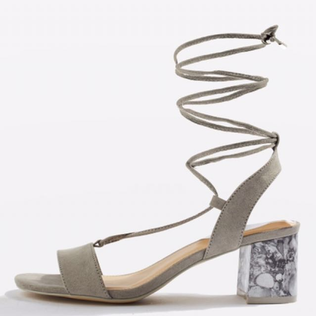 Topshop daisy mid heel sandals size 7