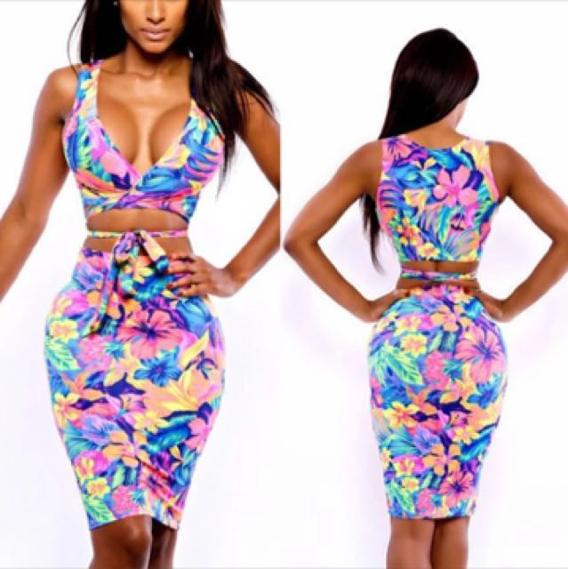 Two Piece set top and skirt
