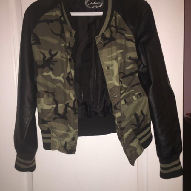 Two varsity jackets
