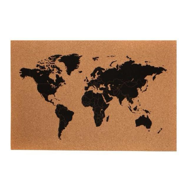 Typo cork board world map furniture home decor on carousell photo photo gumiabroncs Gallery