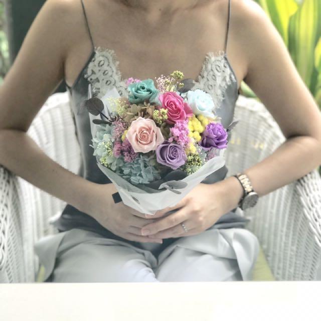 Unicorn Love - preserved flower bouquet, Design & Craft, Handmade ...