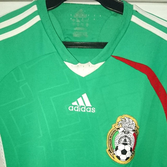 acbed1c3f Vintage Adidas Mexico Soccer Jersey - 3 4 Sleeves on Carousell