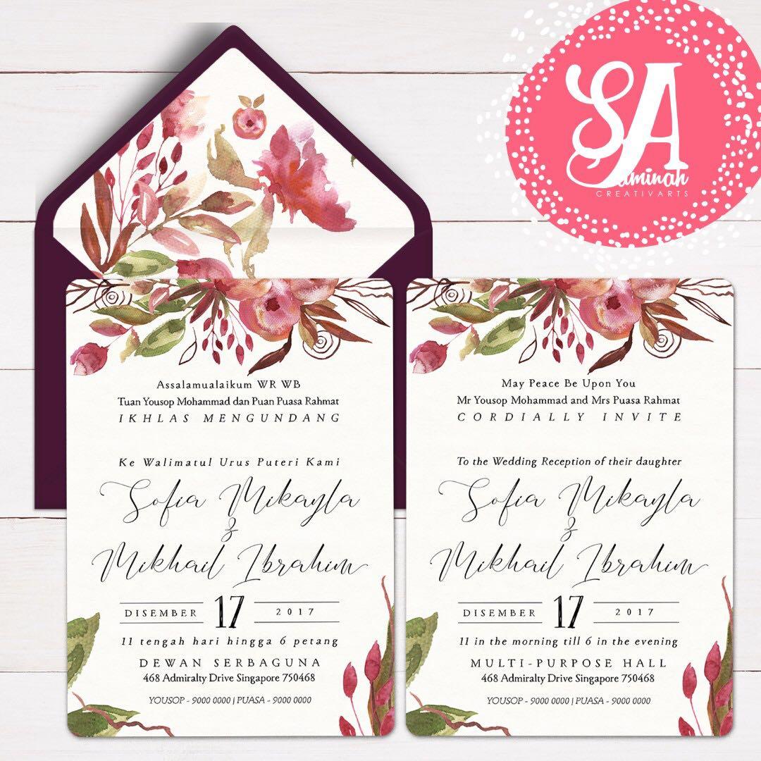 Wedding Invitation Card, Design & Craft, Art & Prints on Carousell
