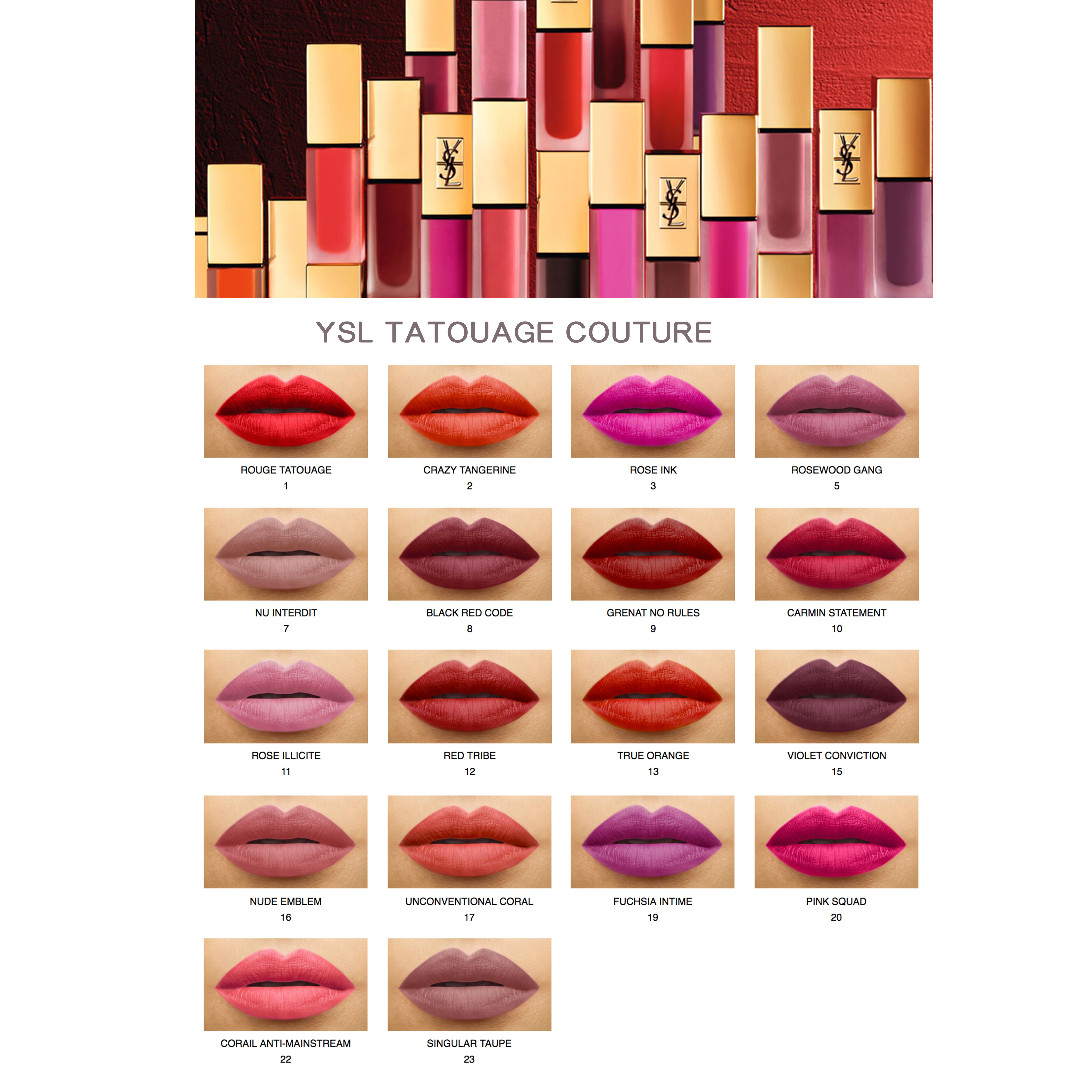 Ysl Tatouage Couture Liquid Matte Lip Stain Preorder