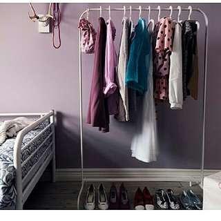 Jasa titip IKEA mulig rak pakaian putih untuk gantung baju gaun atau etalasa toko