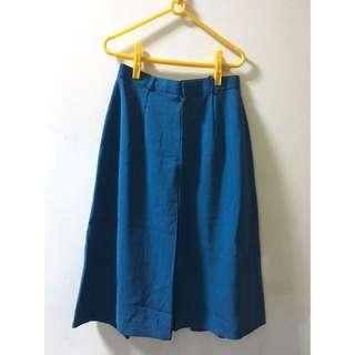 古著 Morningdeer 藍色及膝長裙 S