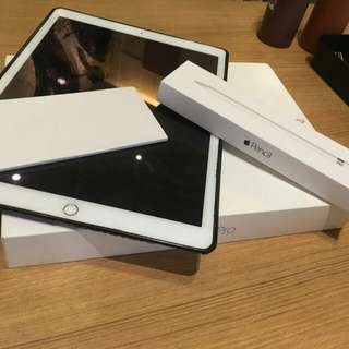 ipad pro 12.9inch 128gb + ipen ori apple