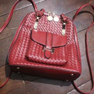 Chic Leather Back Pack