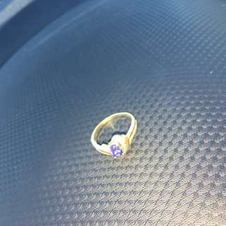 14k gold ring real stone