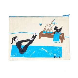 🇺🇸YOGA CAT kitty OM Zipper Bag 美國品牌blueq貓咪瑜珈收納袋