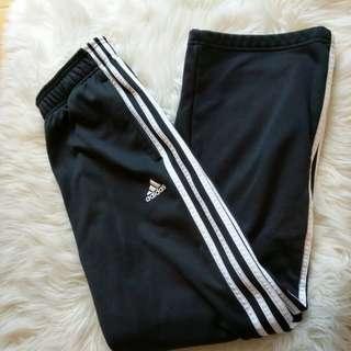 ADIDAS black 3 stripe classic pant