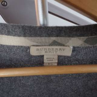 Burberry Grey Cashmere Cardigan
