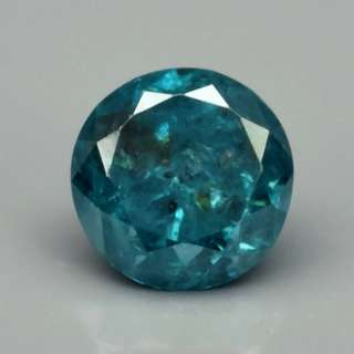 0.09ct 2.6mm Round Brilliant Natural Fancy Blue Diamond