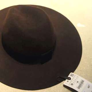 NWT Zara Handmade Brown Wool Hat