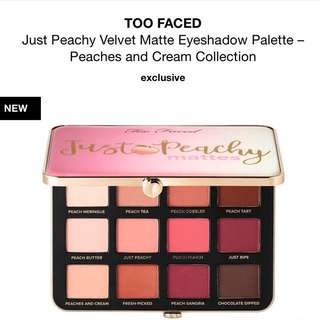 Too Faced - peaches and cream palette exclusive collection