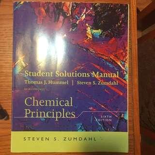 Chemical Principles Solution Manual