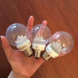 LED light bulbs ($5 for all 3)