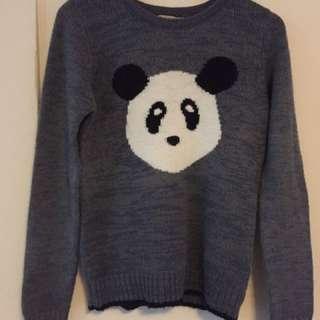 Panda wool jumper