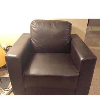 Club Chair - dark brown