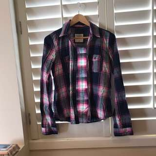 Abercrombie & Fitch Flannel shirt Size8