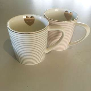 'Mine & Yours' coffee cup set