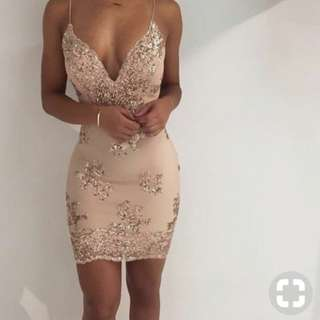 Gold Deb/Formal dress