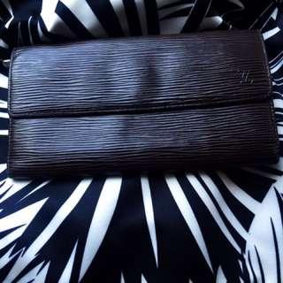 Auth Louis Vuitton Epi Wallet