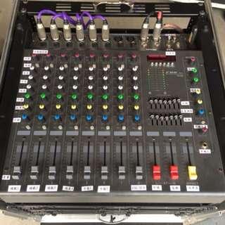 二手8軌帶功率混音器(power mixer)