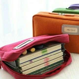 Portable Bank Book/Money/Bills Pouch