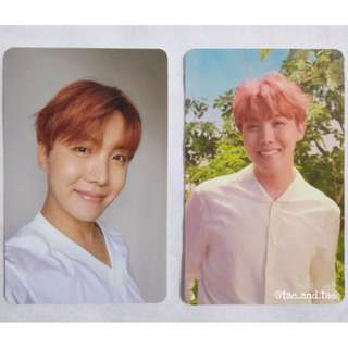 BTS Official Love Yourself J-Hope Photocards - L & O Version
