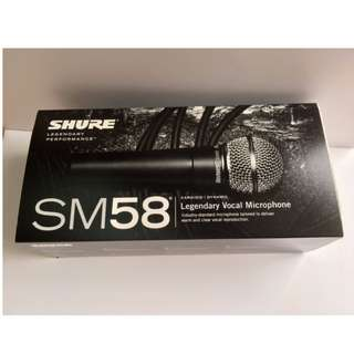 Shure SM58-LC Dynamic Wired Microphone - Brand New in Box