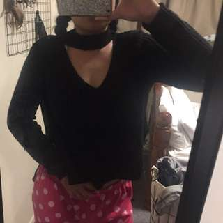 Boohoo Cut Out Sweater