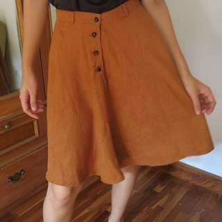 Terracotta A-Line Skirt