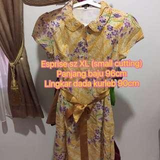 Dress Batik Esprise (detail ukuran di gambar)