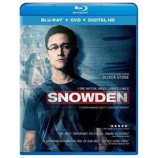 🆕 Snowden Blu Ray