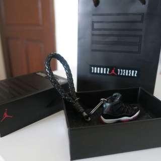 Promo! (Instock) Air Jordan 11 Retro 'Bred' 3D Keychain
