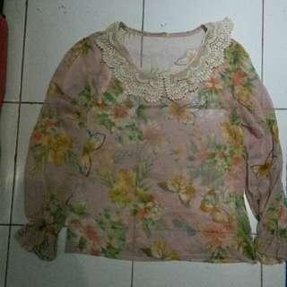 baju flower pink